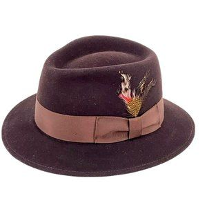 Bailey Of Hollywood Crown Brown Wool Fur Fedora